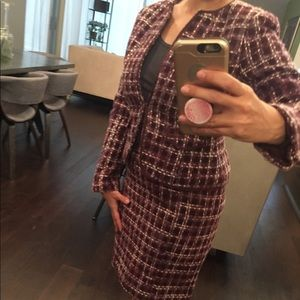 Ann Taylor Jackets & Coats - Ann Taylor Tweed Purple Suit
